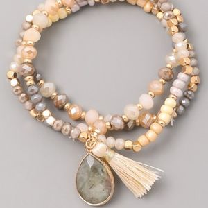 Jewelry - Beaded Bracelets with Tassel and Pendant